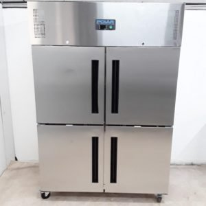 New B Grade Polar CW196 Stainless Double Upright Freezer For Sale