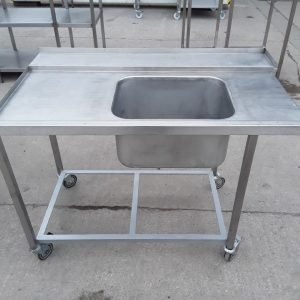 Used   Stainless Single Dishwasher Sink For Sale