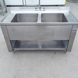 Used Boppas  Stainless Steel Double Sink For Sale