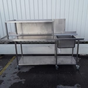 Used   Stainless Steel Single Bowl Dishwasher Sink For Sale