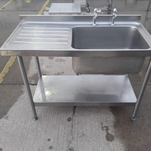Used Bartlett B Line Stainless Steel Single Bowl Sink For Sale