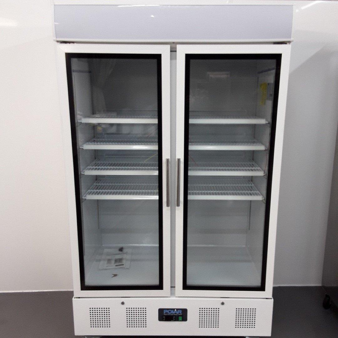 New B Grade Polar Cd984 Double Upright Display Fridge 120cmw X 72cmd X 207cmh H2 Catering Equipment