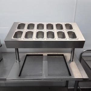 Used   Stainless Steel Pizza Salad Prep For Sale