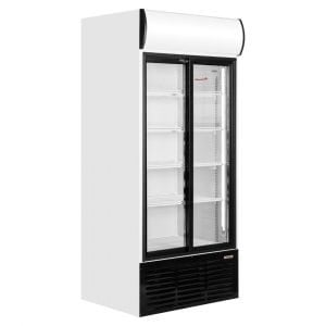 Brand New Caravell CBC603 Double Upright Display Fridge For Sale