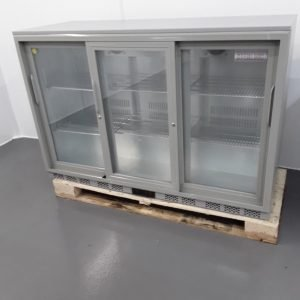 New B Grade Sterling Pro SP3BC-BK/SL Triple Bottle Fridge For Sale