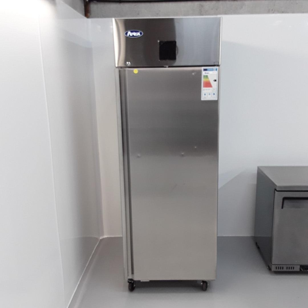New B Grade Atosa MBF8116GR Stainless Single Upright Fridge For Sale