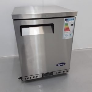 New B Grade Atosa MBC24R Stainless Single Under Counter Fridge For Sale