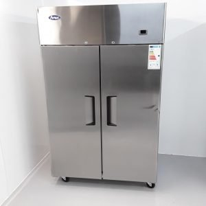 New B Grade Atosa YBF9218GR Stainless Double Upright Fridge For Sale