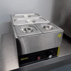 Used Buffalo SO07 4 Pot Wet Bain Marie For Sale