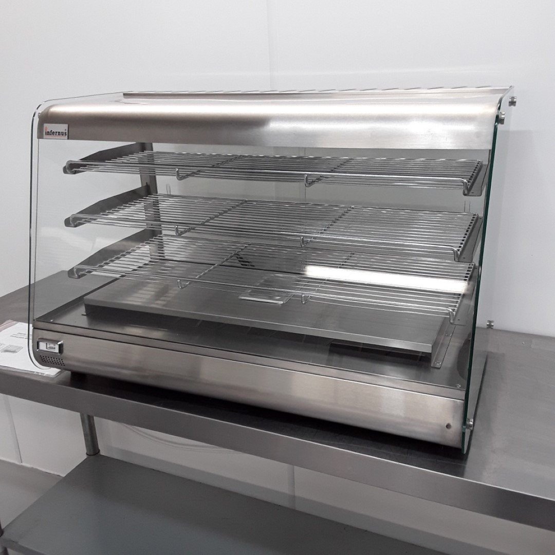 Brand New Infernus 900 SLV Heated Display Food Warmer For Sale