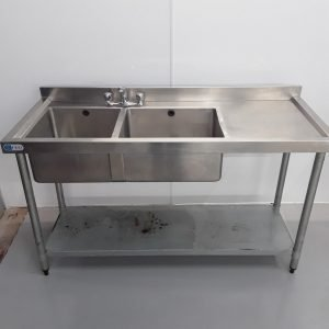 Used Fed  Stainless Double Sink For Sale
