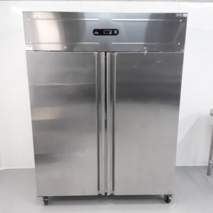 Used Atlanta GN140TN Stainless Double Upright Fridge For Sale