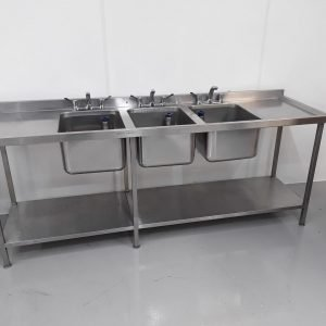 Used   Stainless Triple Sink For Sale