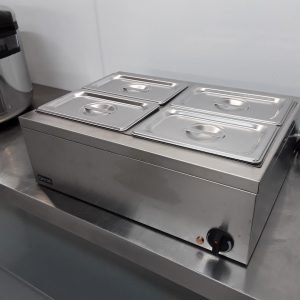 Used Lincat LBM2W 4 Pot Wet Dry Bain Marie For Sale