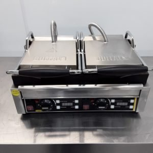 Used Buffalo L554 Double Contact Panini Grill For Sale