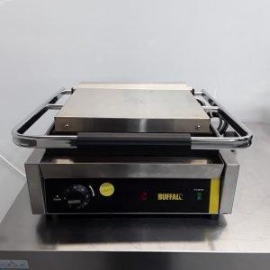 Used Buffalo GJ455 Single Contact Panini Grill For Sale