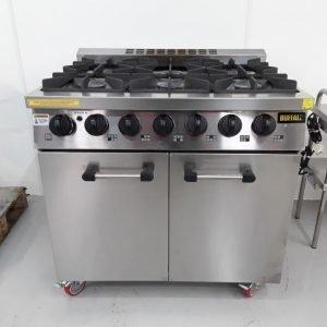 Ex Demo Buffalo CT253 6 Burner Range Cooker For Sale