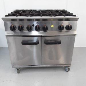 Used Lincat OG8002/N 6 Burner Range Cooker For Sale