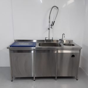 Used   Stainless Single Fish Sink For Sale