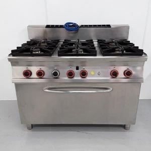 Used Lotus CF6-72G 6 Burner Range Cooker For Sale