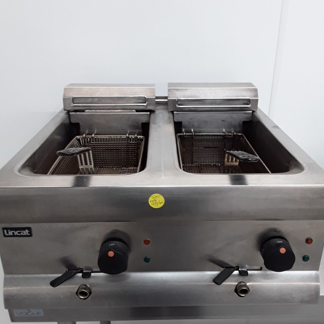Used Lincat DF66 Double Fryer Table Top 9L For Sale