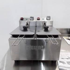 New B Grade Buffalo DB203 Double Table Top Fryer 3L For Sale