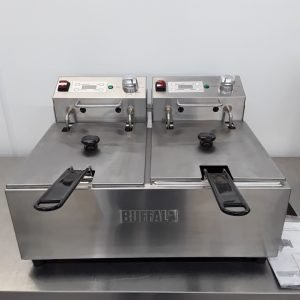 New B Grade Buffalo FC259 Double Table Top Fryer 2x5L For Sale