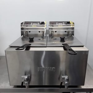New B Grade Buffalo GH127 Double Table Top Fryer 2x8L For Sale
