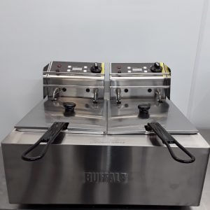 New B Grade Buffalo L495 Double Table Top Fryer 2x5L For Sale
