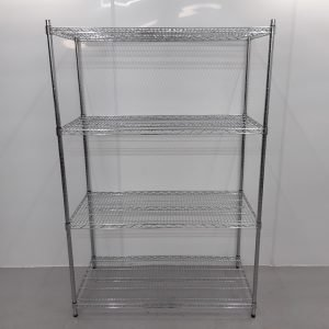 Brand New   4 Tier Chrome Wire Shelving For Sale