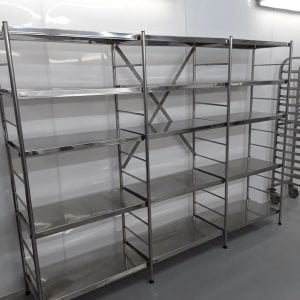 Used Fosterack  5 Tier Rack Shelves For Sale