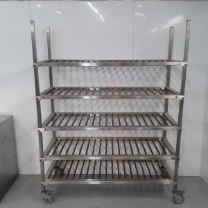 Used   5 Tier Stainless Rack Shelves For Sale