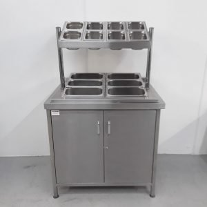 Used   Stainless Pizza Salad Table For Sale
