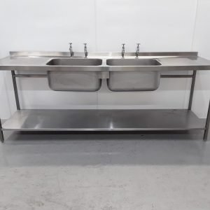 Used Parry  Stainless Double Sink For Sale