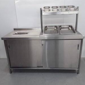 Used   Stainless Steel Pizza Table For Sale