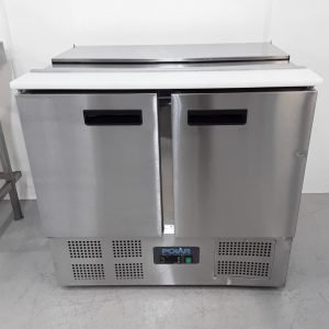 New B Grade Polar G606 2 Door Bench Fridge Saladette For Sale