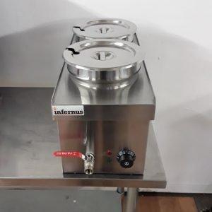 Brand New Infernus BMPOT 7X2 2 Pot Bain Marie 6.5L For Sale