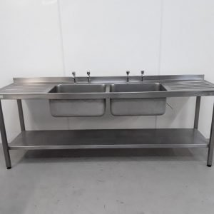Used Sissons  Stainless Double Sink For Sale