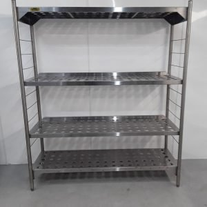 Used Bartlett B Line 4 Tier Rack Shelves For Sale