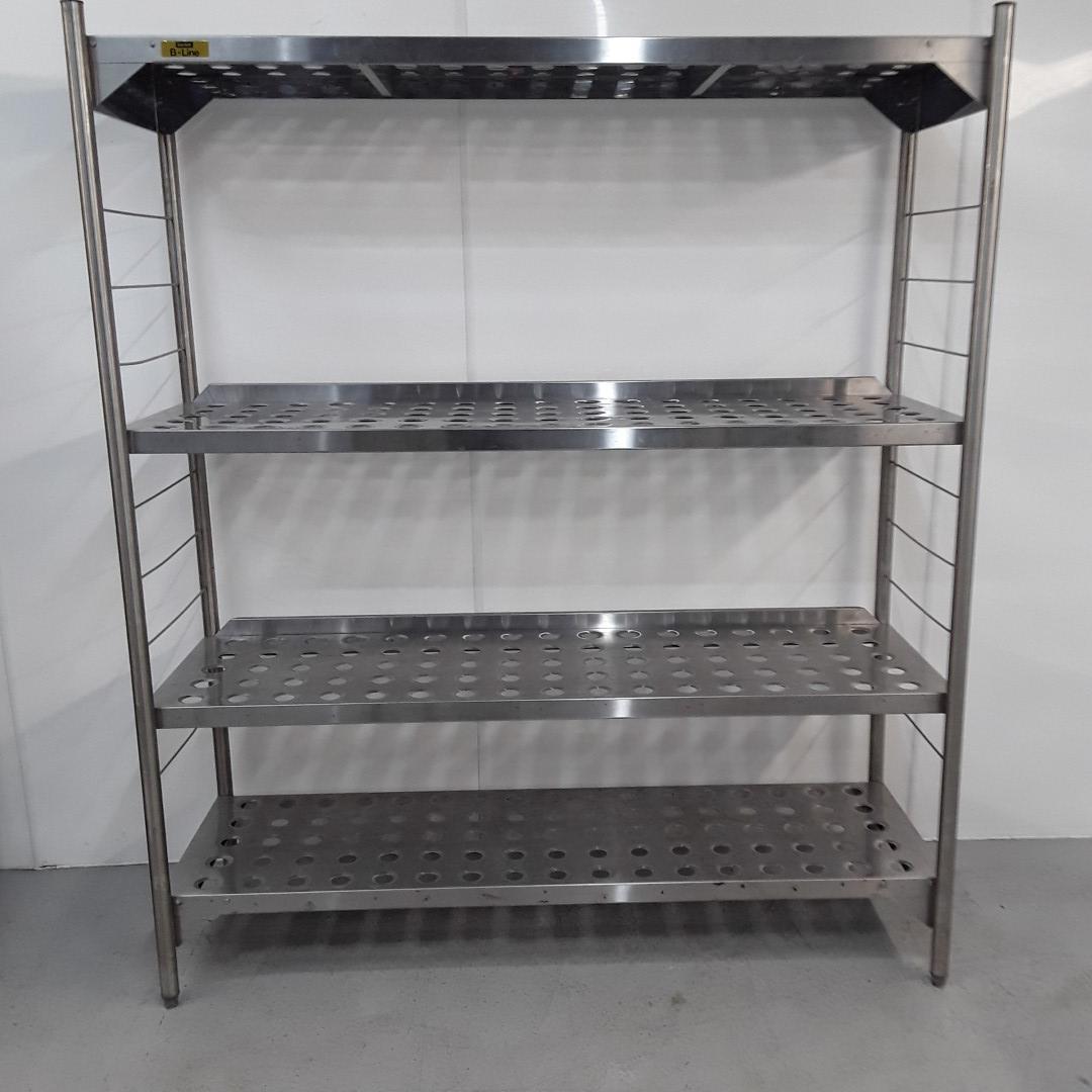 Used Bartlett B Line 4 Tier Rack Shelves For Sale