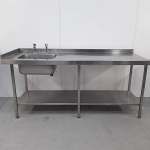 Used   Stainless Single Sink Table For Sale