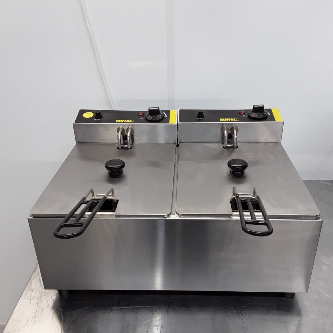 Used Buffalo L485 Double Fryer For Sale