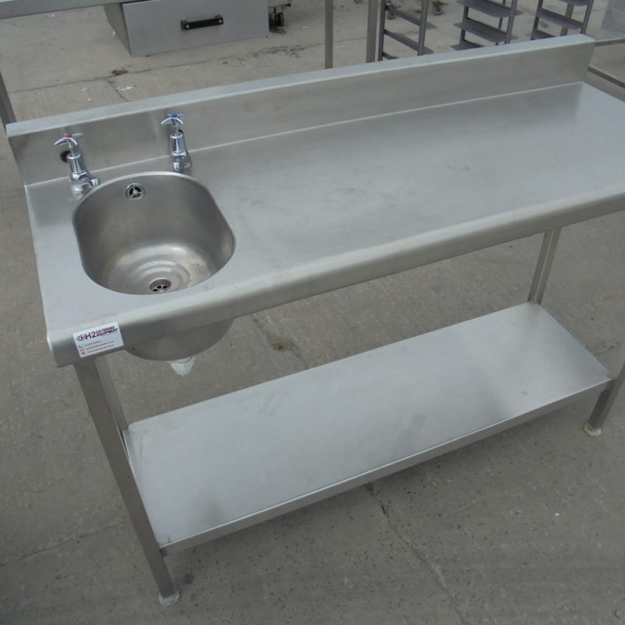 Stainless Steel Single Sink/ Table 130cmW x 50cmD x 85cmH ? H2 ...
