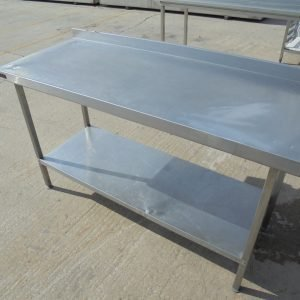 Stainless Steel Corsair Table 150cmW x 58cmD x 86cmH