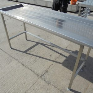 Stainless Steel Dishwasher Table 173cmW x 60cmD x 90cmH
