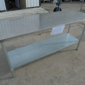 Stainless Steel Table 180cmW x 60cmD x 90cmH