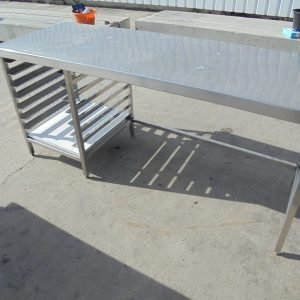 Stainless Steel Table 200cmW x 70cmD x 90cmH