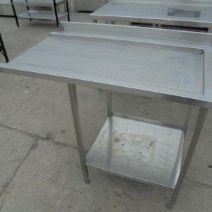 Stainless Steel Dishwasher Table 115cmW x 68cmD x 93cmH