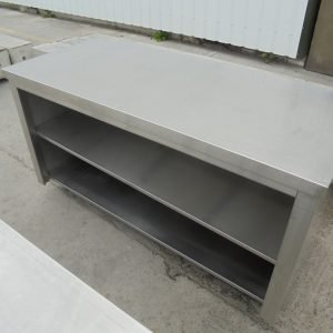Stainless Steel Table Cabinet 160cmW x 70cmD x 85cmH