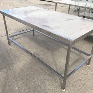 Stainless Steel Table 180cmW x 85cmD x 85cmH